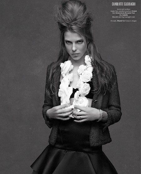 Charlotte Casiraghi photographed by Karl Lagerfeld