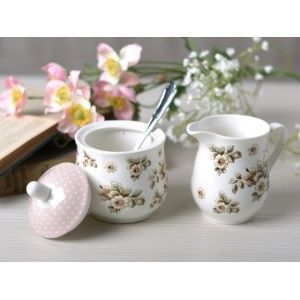 Katie Alice Cottage Flower fine china - suiker en melkkannetje SUGCR2466