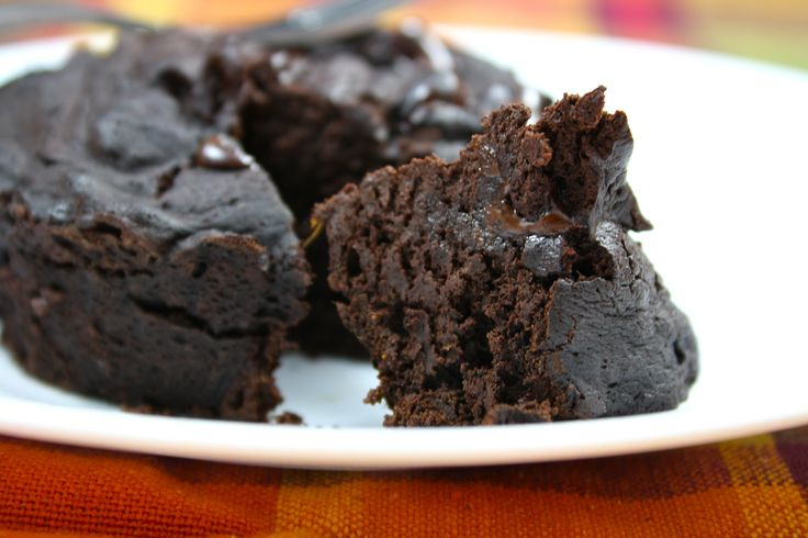 Grain free, low carb chocolate cake, just 60 calories in less than five minutes