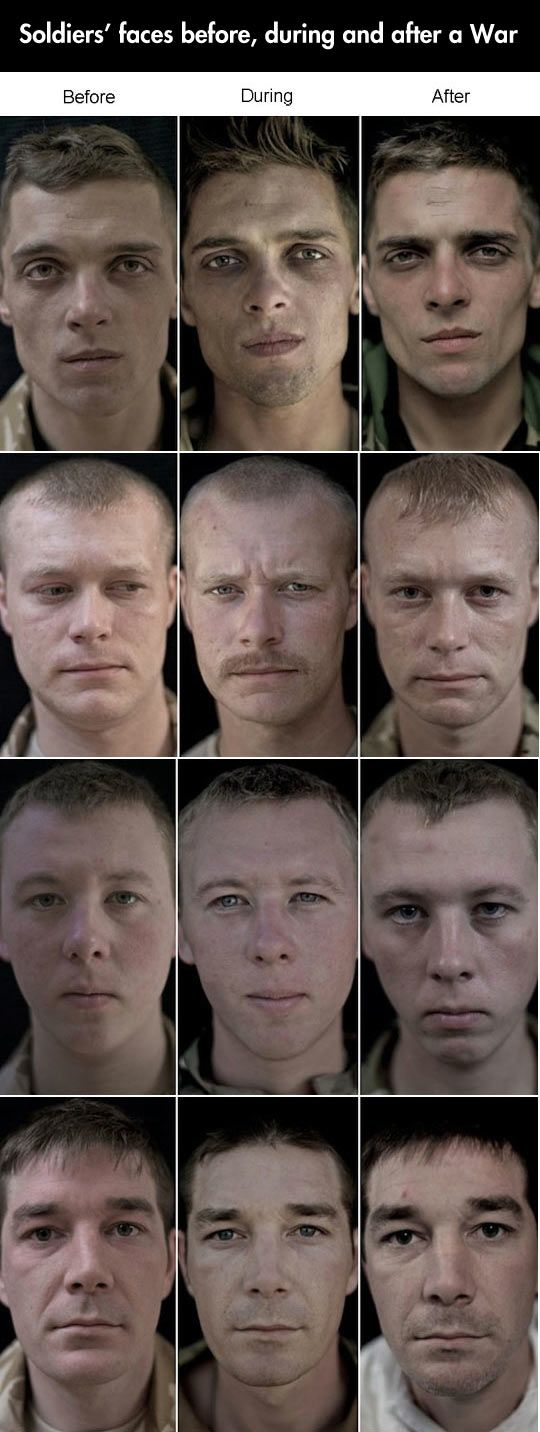 The emotional repercussions of War…they all have sad eyes