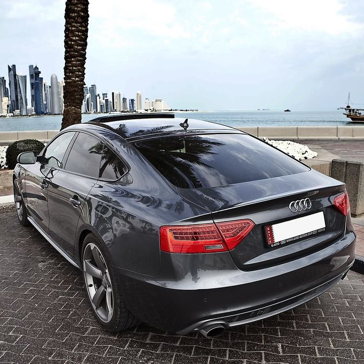 The rear shot of the car from the previous photo earlier today. The A5 Sportback aka Sexyback. Car: 2015 @Audi A5 Sportback 3.0TFSI quattro S-line (272hp 3.0 V6 Supercharged) Performance 0-100kmh(62mph): 5.53sec (tested) 5.8sec (official). Top speed 250km/h (limited) Color: Daytona gray metallic Location: Doha Qatar Facebook: http://ift.tt/1sUXuHP Camera: Canon Eos 5D Mark II / 24-70mm Thanks to: Audi Qatar (@audiqatar) Remember ALL my photos are available on my popular Facebook page where…