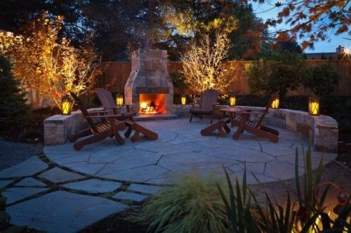 Peaceful: Patio Design, Fire Pits, Backyard Patio, Patio Idea, Outdoor Living, Outdoor Patio, Outdoor Fireplaces, Outdoor Spaces, Stones Patio