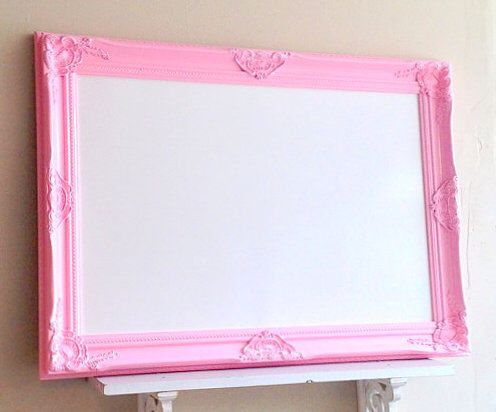 Framed Whiteboard Dry Erase Board Pink Magnetic Bulletin Board Girls Room 26x36 Wall Decor Desk Organizer Unique Teenager Gift Memo Board by ShugabeeLane on Etsy https://www.etsy.com/listing/193682204/framed-whiteboard-dry-erase-board-pink