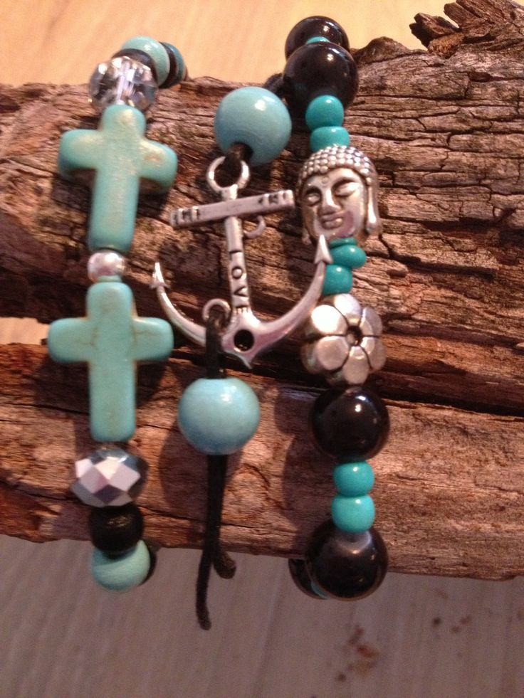 Black and turquoise bracelet