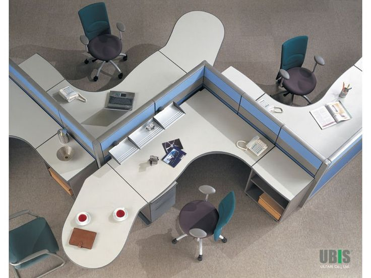 Office Space Organizing Is One Of The Keys To A Successful Business : Awesome Shared Office Workstation For Open Plan Office Space Organizin...