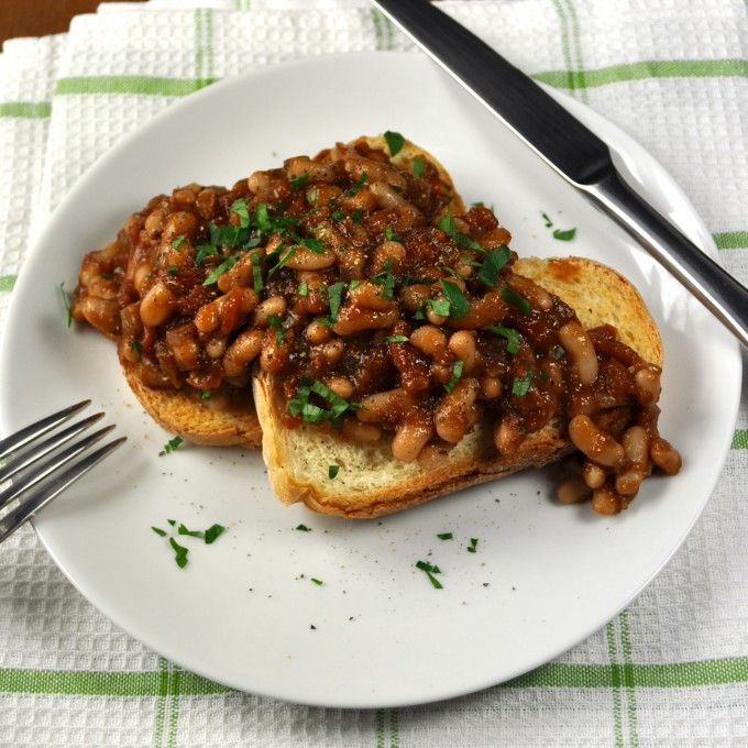 Homemade Baked Beans (Vegan, Veg) - easy recipe with a great depth of flavour, healthy (very little oil is used).  Hope you enjoy it as much as I do!