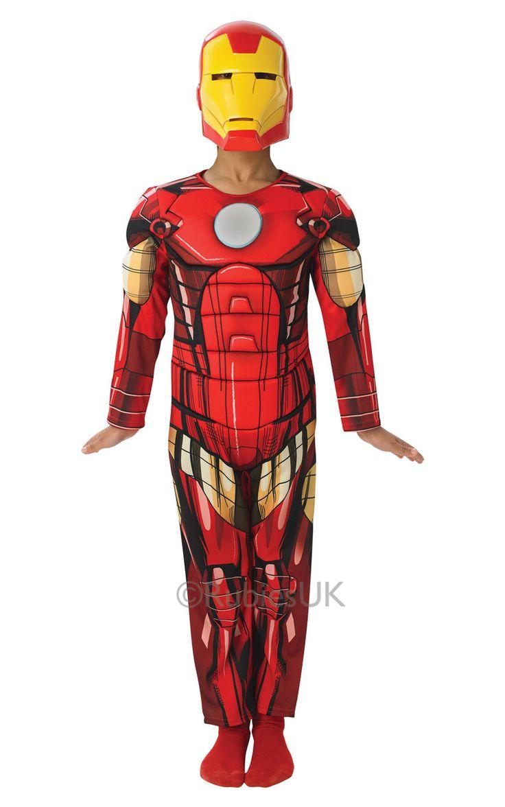 Ironman Deluxe. Tuote on lisensoitu Marvelin Ironman -naamiaisasu.