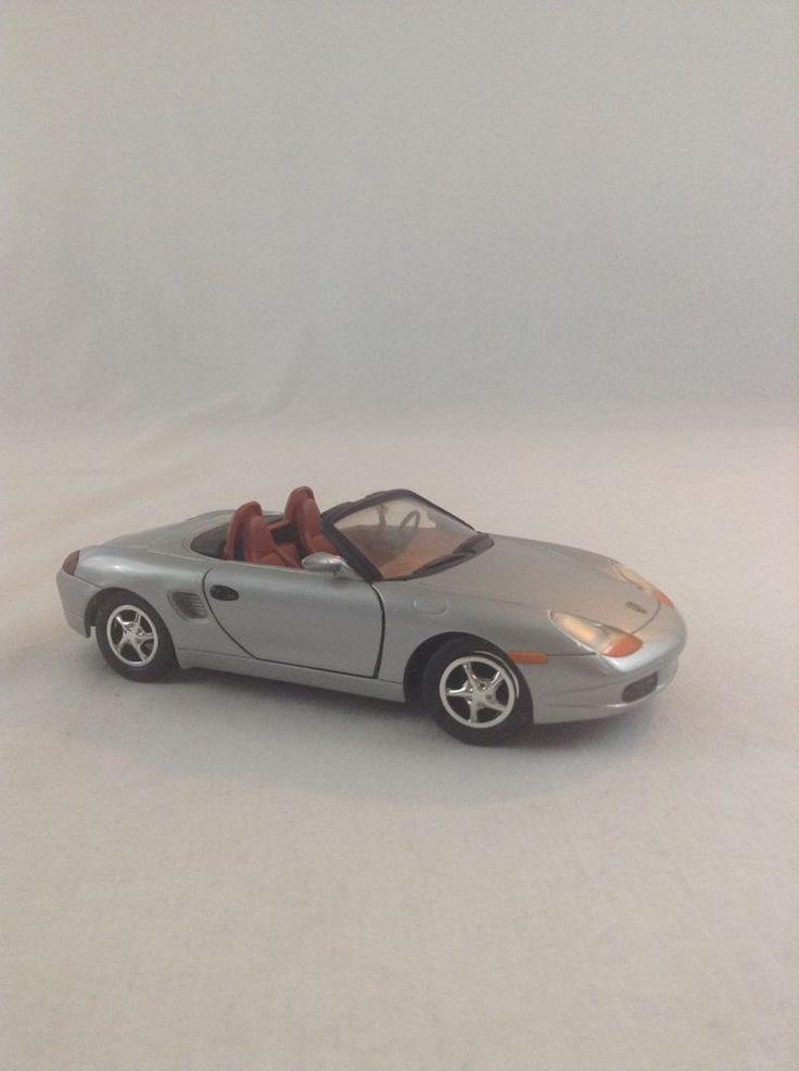 Gray Porsche Boxster 1:24 Scale Diecast Plastic Display Car Vehicle  #Porsche