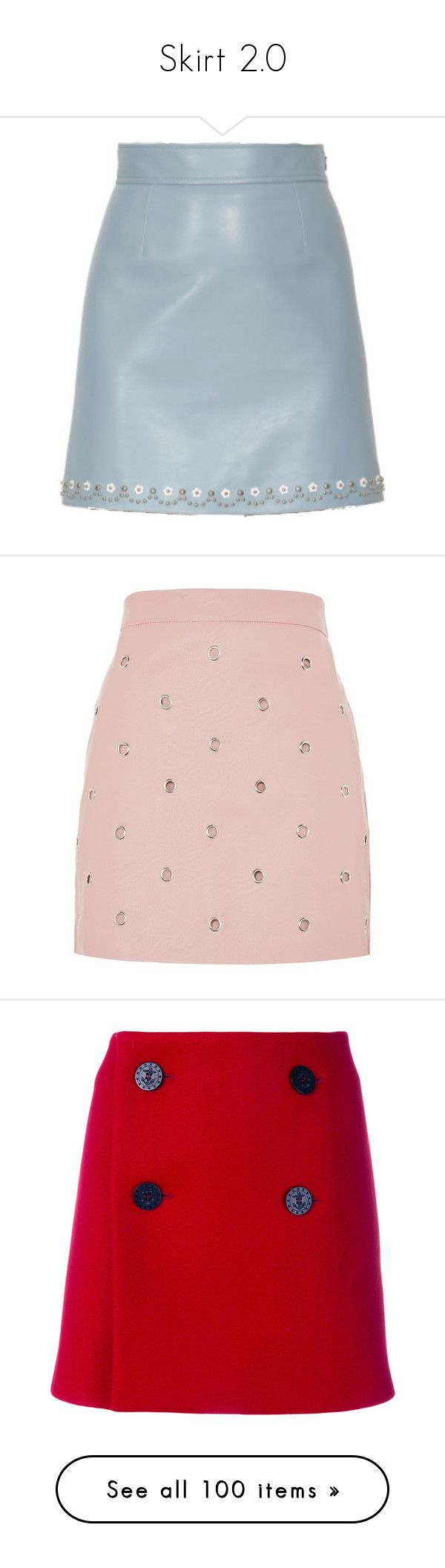 """Skirt 2.0"" by powergirls-officele ❤ liked on Polyvore featuring skirts, leather look skirt, pink skirt, eyelet skirt, pink faux leather skirt, topshop skirts, mini skirts, bottoms, clothes / skirts and dsquared"