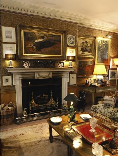 Robin Birley S London Apartment Dark Shades Many Lamps