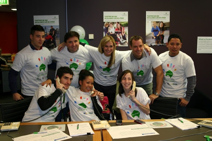 The UBank team at 2UE for the Cerebral Palsy Alliance Raise the Roof radio appeal