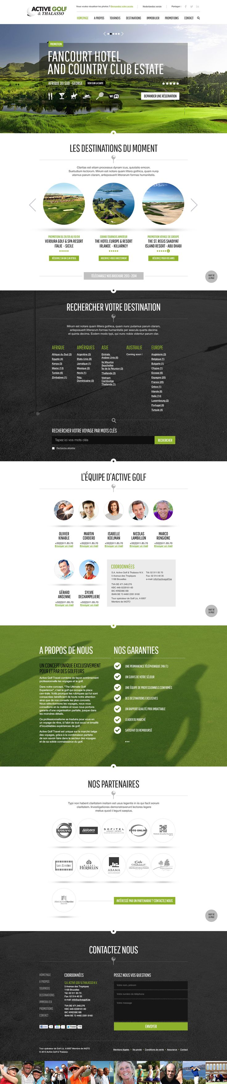 Active Golf Website on Behance