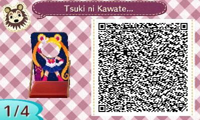 SAILOR MOON FACE CUT OUT. ANIMAL CROSSING NEW LEAF. QR CODE. ACNL. PINNED BY Stephy Sama