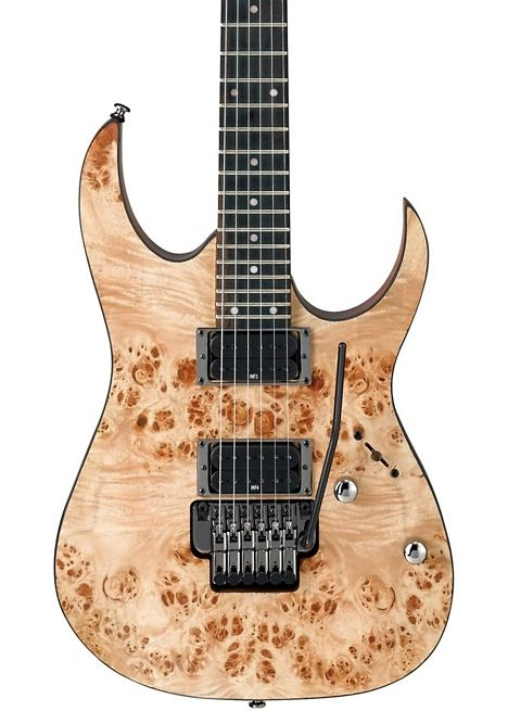 Ibanez RG Series RG420PB with a natural finished Poplar burl top