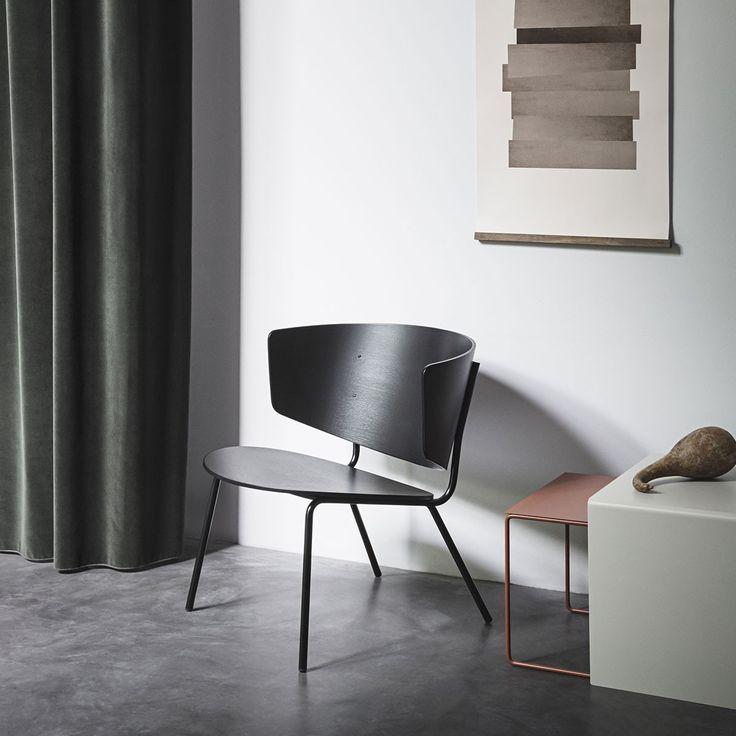 chaise herman lounge noir ferm living avec toujours autant de style cette