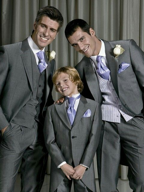 Purple And Grey Wedding Suit With Waistcoat Ideas For The Groom And Children Ideas