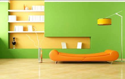 Pilihlah Warna yang Cerah:  Dinding by homify.co.id