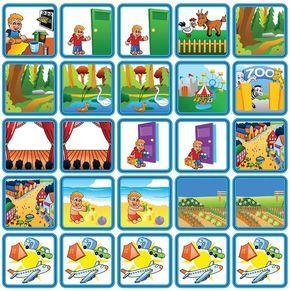 Themasetje Recreatie & Uitjes is een set van 25 magnetische planbord pictogrammen en bevat uitjes zoals de dierentuin, het stand en het bos.