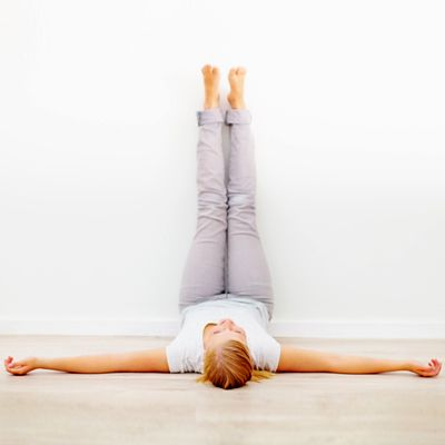 For Brian: Yoga Poses for Your Restless Legs... Vipariti Karani: Legs Up the Wall Pose  #Yoga   #Yogaworkout