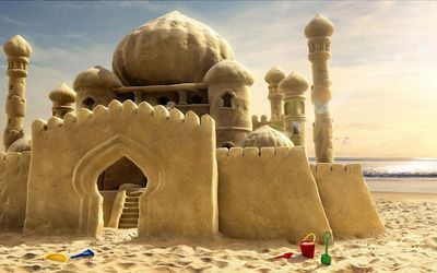 Sand castle wallpaper