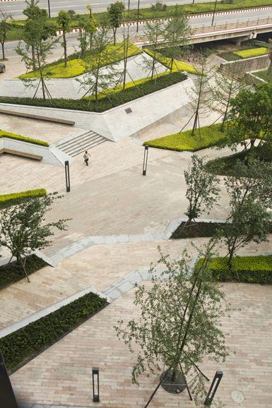 Fantasia mixed use landscape chengdu fantasia and for Urban home landscape design