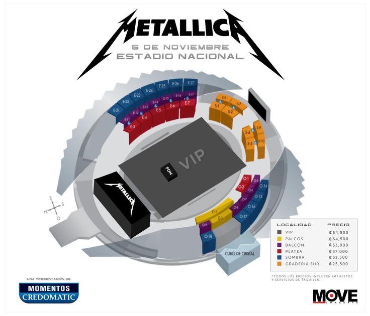Ya están a la venta las entradas para concierto de Metallica