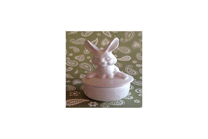 Medium Ceramic Bunny Trinket by It's a Bling thing