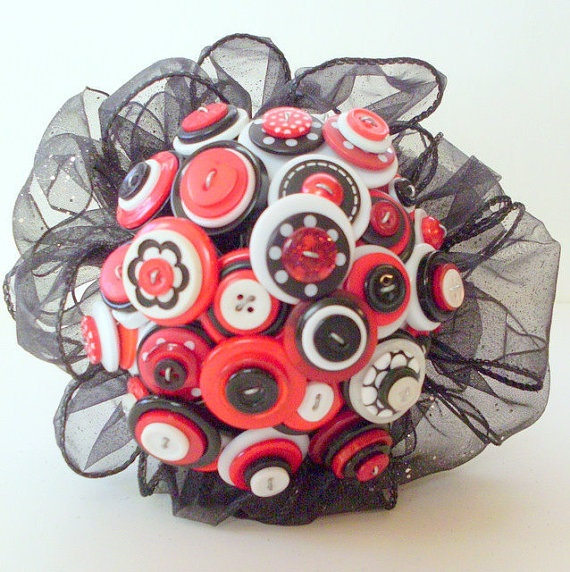 Rockabilly Wedding Ideas: Brandi And I Are Making A Button Bouquet...not Quite Like