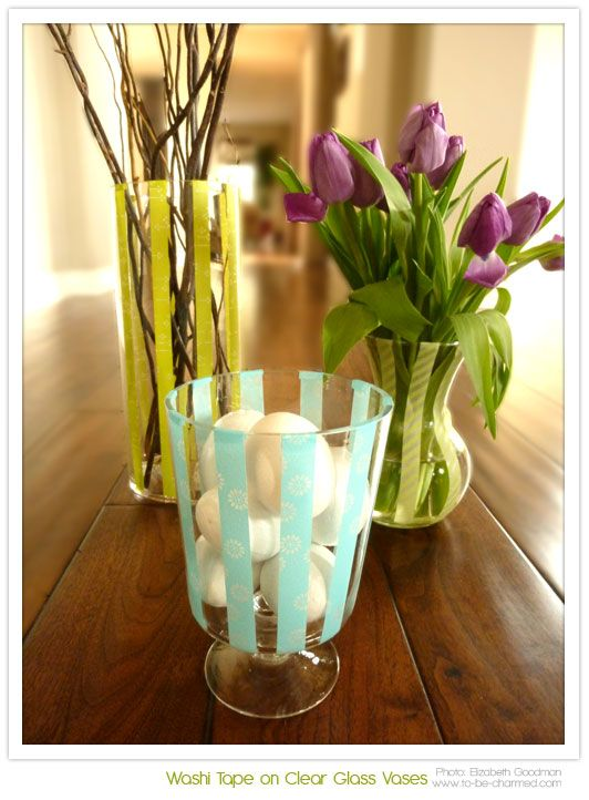 Best Washi Tape Flower Vases Floreros Images On Pinterest