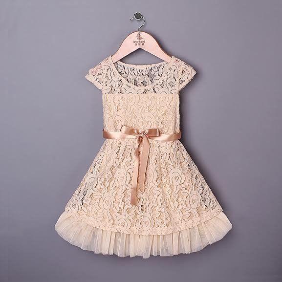 """""""MONTAIGNE"""" Cream Lace Dress"""