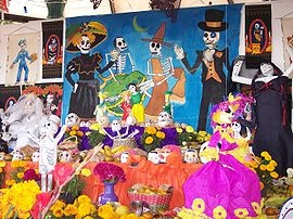 Altar de muertos - Wikipedia, la enciclopedia libreAltars De, Halloween Secret, Of The, Celebrities Dia, Dead, Day, Spanish Class, Culture Events