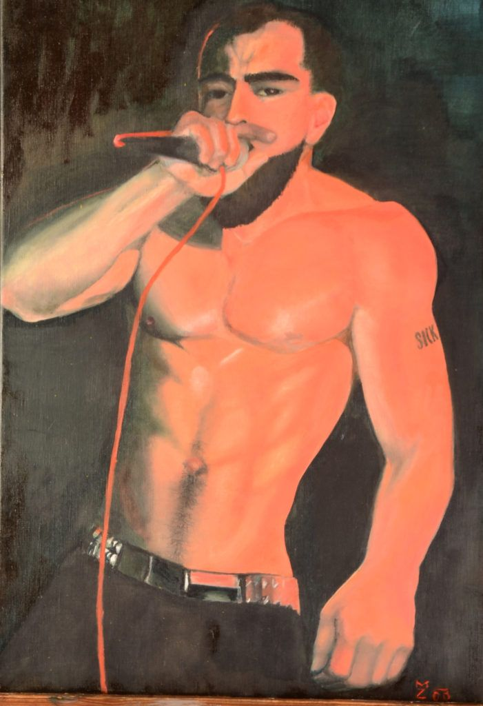 The Singer (42 x 61 cm) I will sing loud all my sickness. FOR SALE 190 EUR