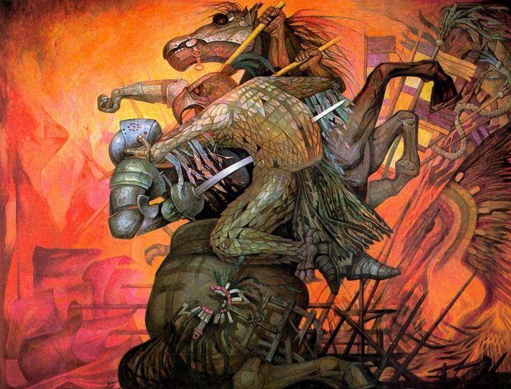 Encuentro de 2 culturas mural de jorge gonz lez camarena for Mural mexicano