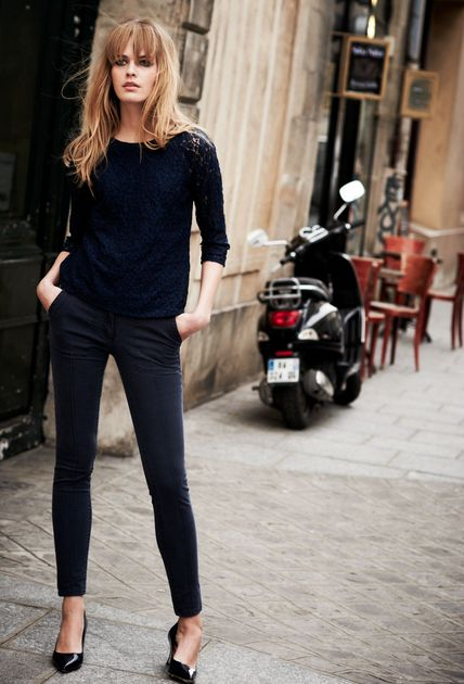 Sometimes the best street style is basic black cigar pants, slim sweater and pointed kitten heels. Add in a Parisian style fringe and perfection. Our tip is to keep your blacks staying black longer with a gentle Luxury Laundry Detergent, like ours, of course! #frenchstyle #french #frenchfashion