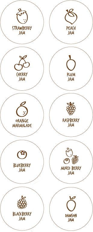 Free Printable Jam Labels Tags from Tip Junkie - round and rectangular- also a how to for adding a fabric top to your jars