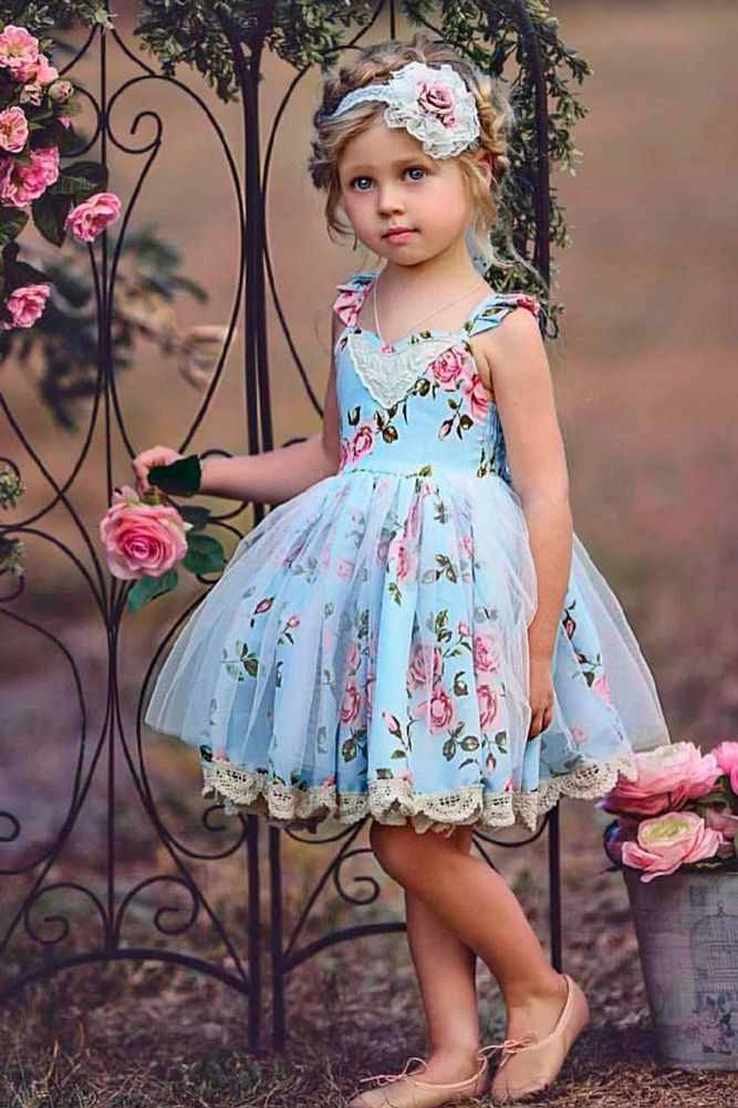 cc16758257b2 Flower girl dresses don't have to be white or pink or even solid colors!  This adorable floral flower girl dress is perfect for a spring, summer or  boho-chic ...