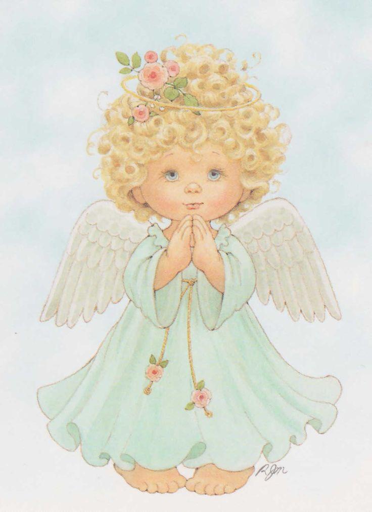 Картинки с милыми ангелами она прямо