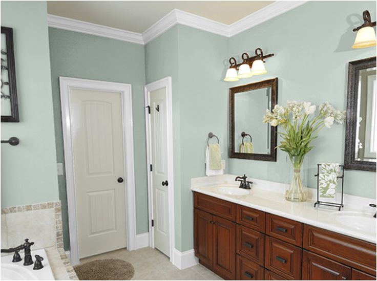 New bathroom paint colors bathroom trends 2017 2018 from - Interior paint ideas for small rooms ...