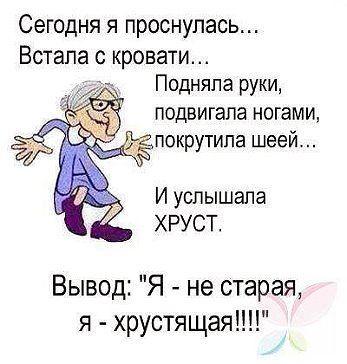 Все в порядке! Если после сорока проснулся и ничего не болит - значит умер!!!