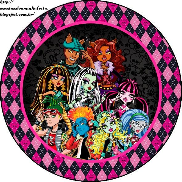 Monster High: Free Printable Labels and Toppers.