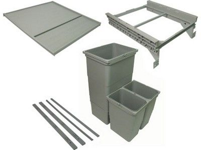 For Cabinet Waste Bin Packed Set For Grass DWD Or Blum Tandembox Drawer  Systems