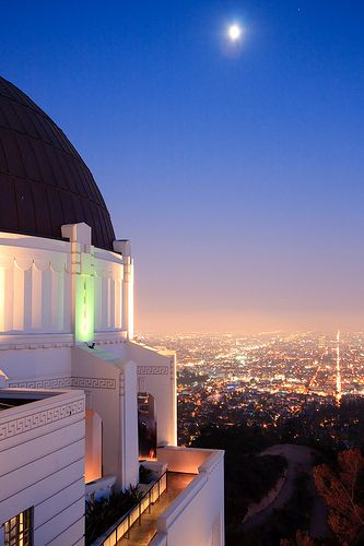 See. Griffith Observatory at night. http://griffithobservatory.org