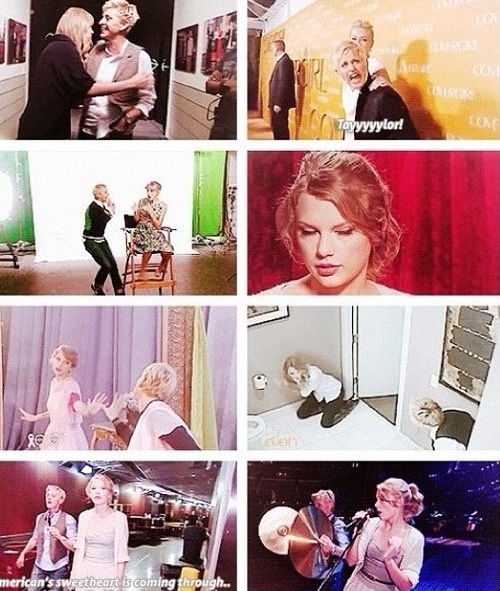 I LoVE TAYLOR AND ELLEN COMBINED!!! HAAHAHAHHAAH WAYYY TO FUNNY