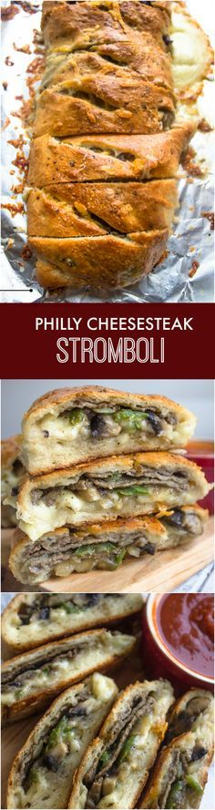 Philly Cheese Steak Stromboli | Brunch Time Baker