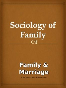 This product is in power point slides explaining the characteristics of family and marriage in general and in the changing world in particular. It identifies the basic tenets of two age-old institutions through clear and structured points. It aims at clearly explaining the greatness of these two institutions to students of Sociology and as it is editable, it gives more freedom to adjust it to the content taught at different levels.