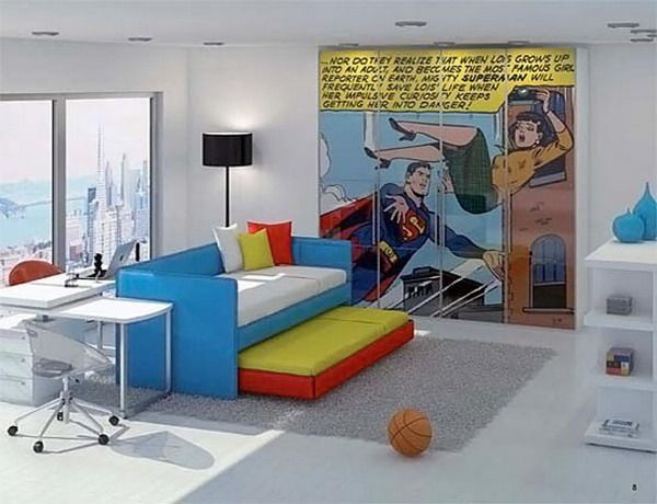 Superman Room Of A Great Poster Print Ideas For Kids Rooms From Kids Room  Designs
