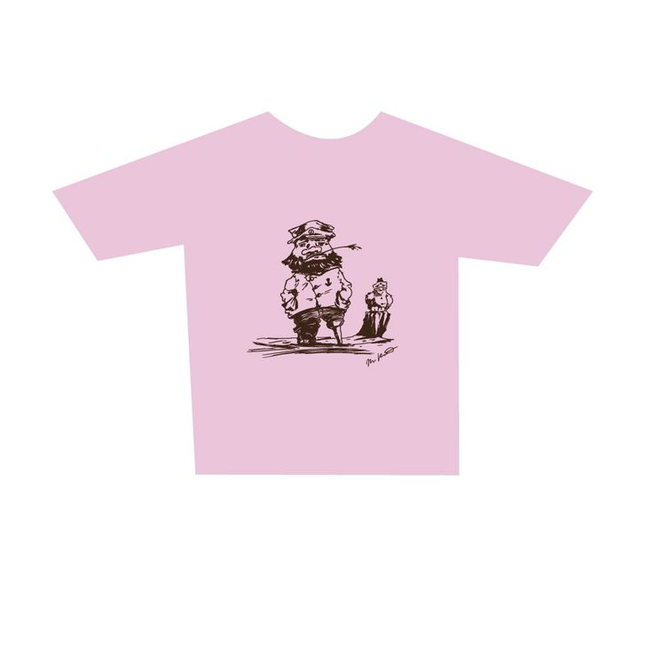 Childrens Master Mariner T-Shirt, pink. Buy form Holvi webstore. #t-shirt #mariner #captain #sea #seagul #mastermariner