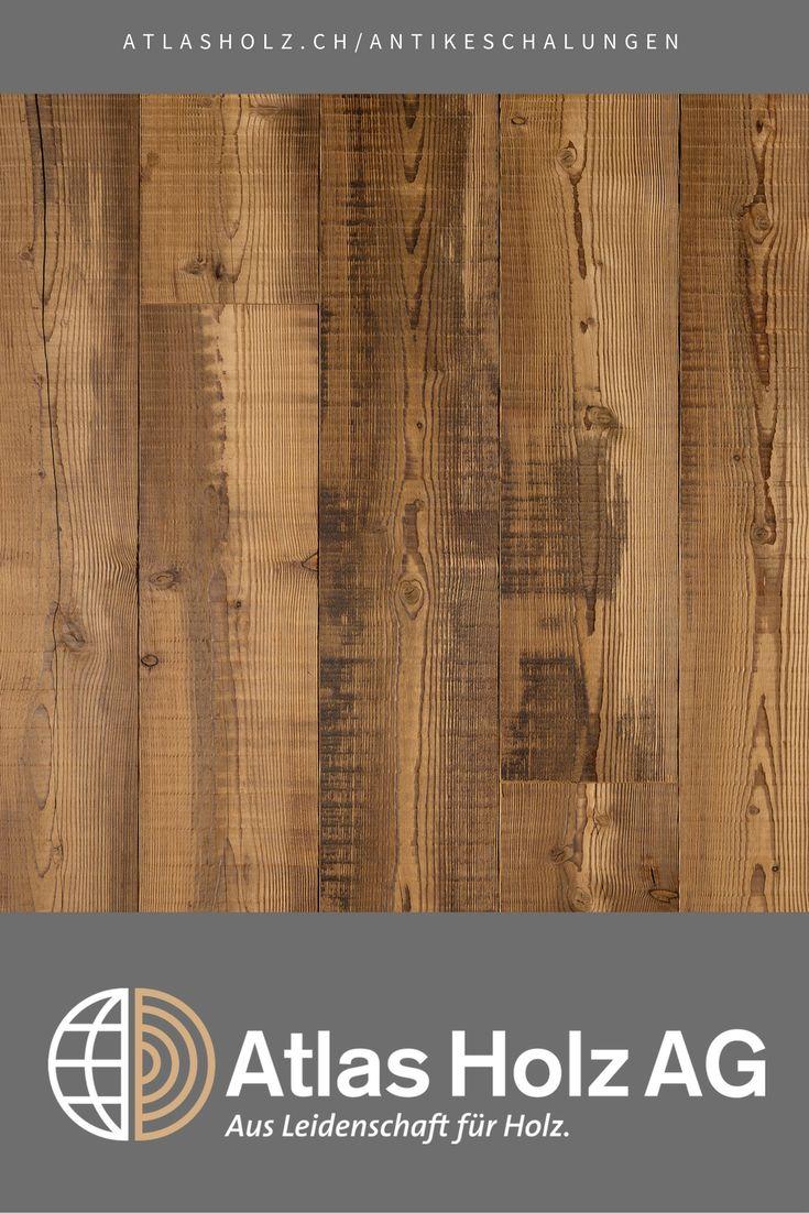 Antike Schalungen Piz Badile, Lärche sibirisch, gedämpft, Bandsägeschnitt / Wall Panels Piz Badile, Sibirian Larch, steamed, gang-saw cut
