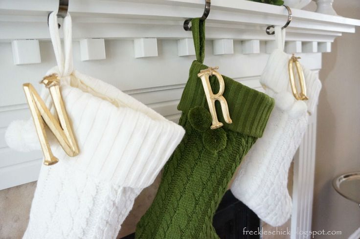 Letters on cable knit stockings for the home pinterest