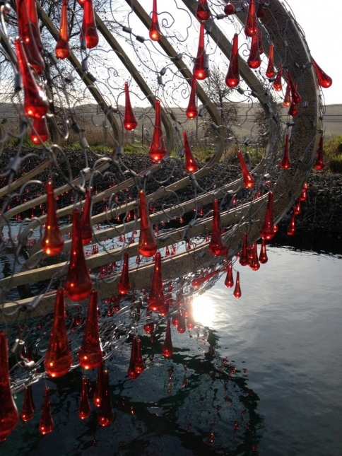 beautiful installation over water